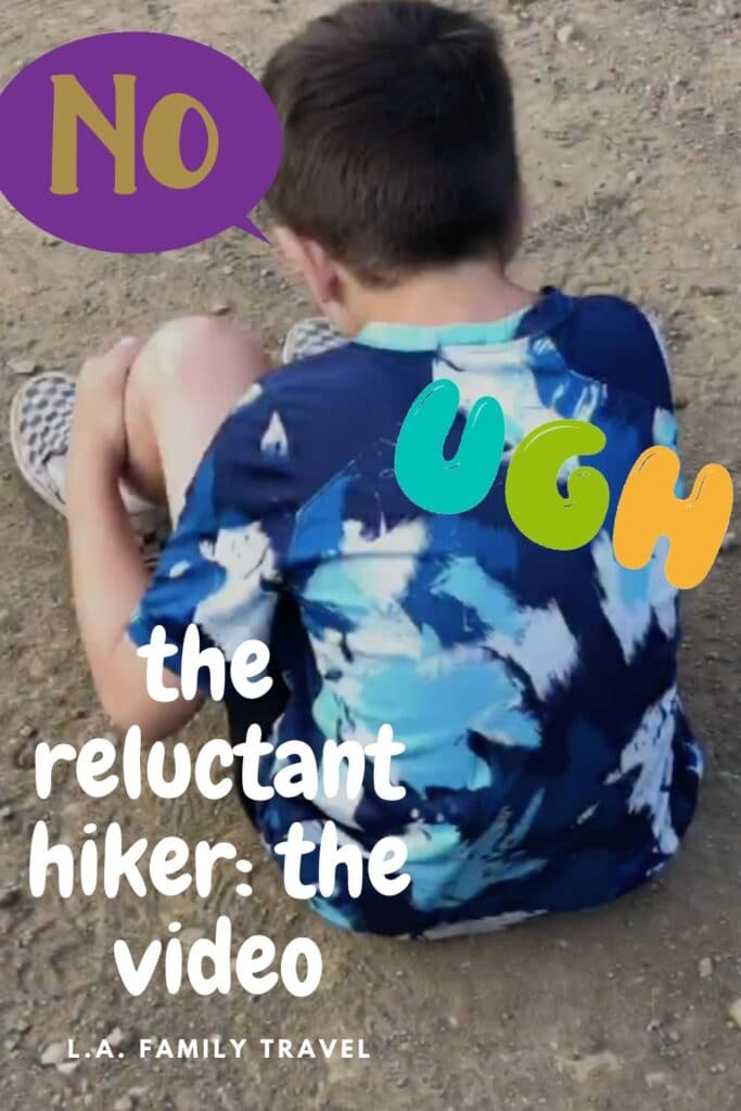 When you want to explore the outdoors with your kids but your kids have a different idea. Here's our video of our family hike with our reluctant hiker and the funny stuff that happened throughout.