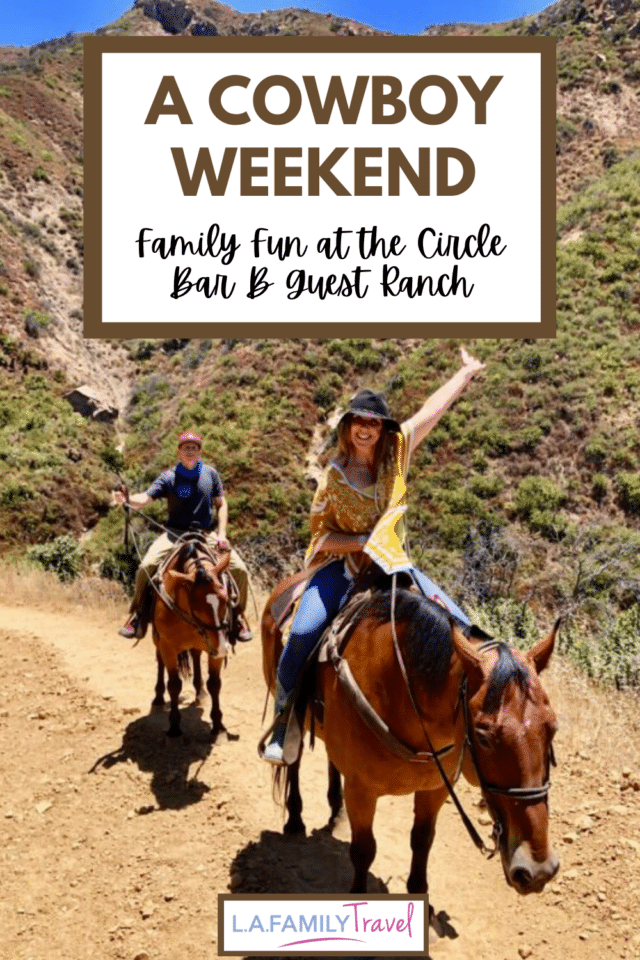 A super fun, romantic weekend at the Circle Bar B Guest Ranch near Santa Barbara. A perfect daytrip or weekend getaway for Los Angeles families. Ride horses and live like a cowboy for a day or a weekend. Next time, bring the kids! A perfect place for a family reunion as each room is a separate house.