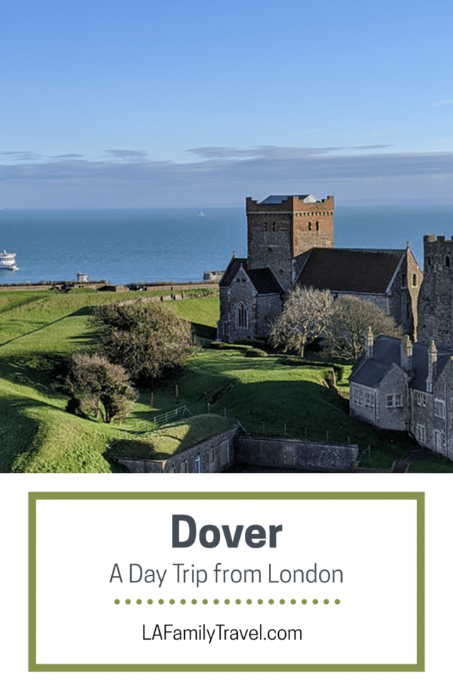 A Pinterest image for Dover: A Day Trip From London