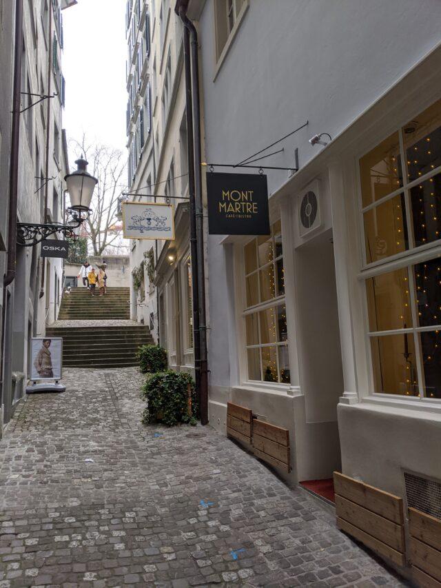 tight street in Zurich