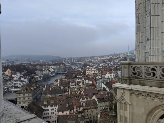 zurich from the top of grossmunster