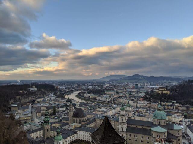 salzburg austria from fortress hohensalzburg