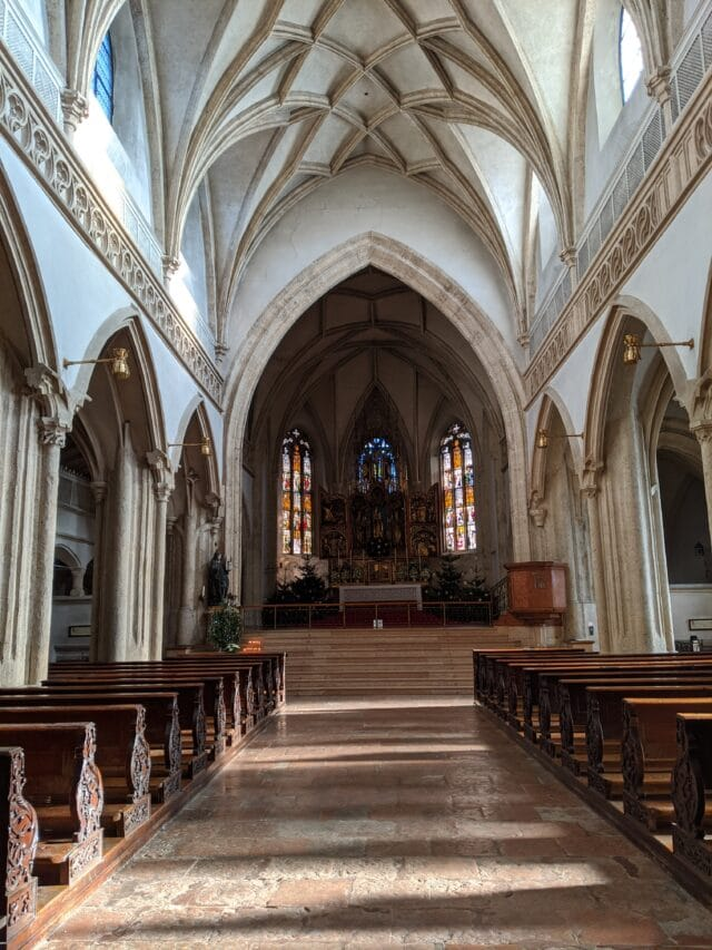 the chapel at nonnberg abbey salzburg austria