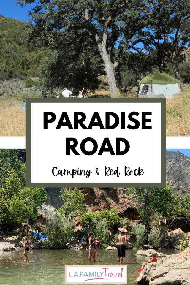 camping, paradise, red rock, santa barbara, los angeles, family, getaway