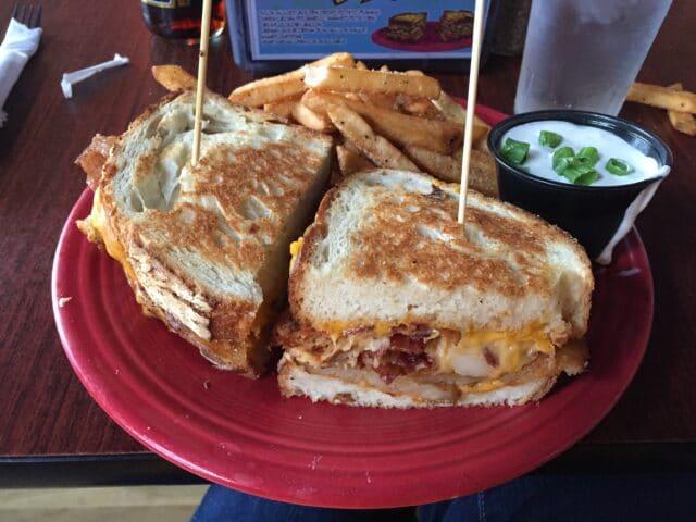 Picture of Potato Bacon Bomb Sandwich