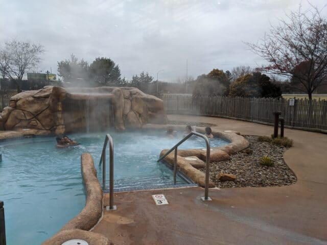 photo of outdoor hot tub