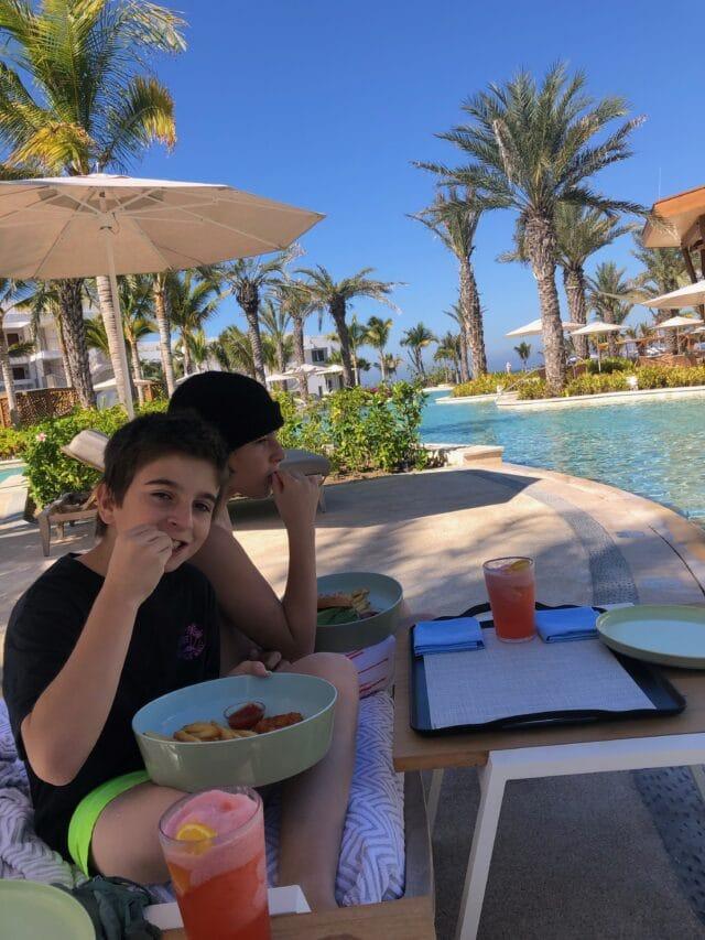 Lunch at conrad punta de mita resort in mexico - riviera nayarit