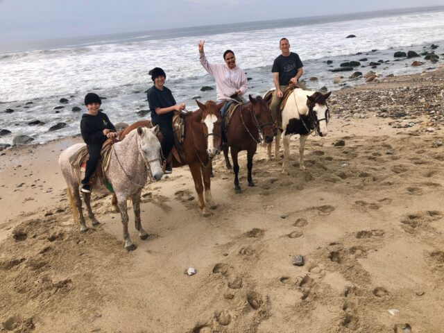 horseback riding at agave studio at conrad punta de mita resort - what to do with kids and families