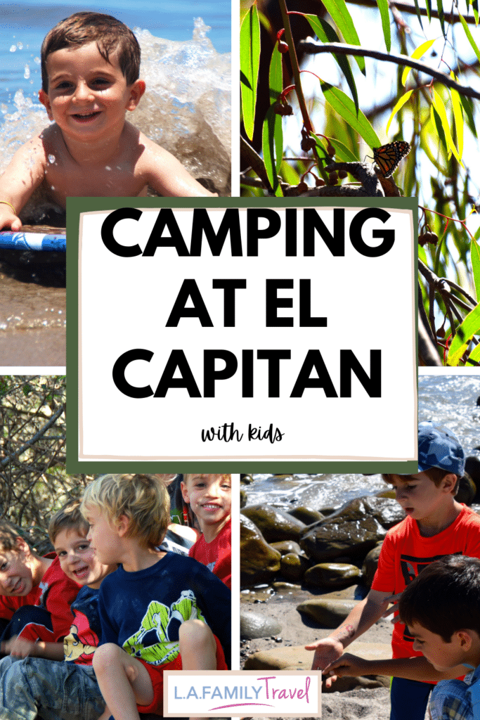 The best things to do camping at El Capitan State Beach camping with kids, friends and family. The best activities to find at El Capitan State Beach if you're camping or glamping and everything you need to know to go!