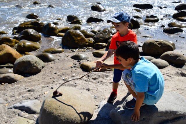 camping with kids at el capitan - tidepools