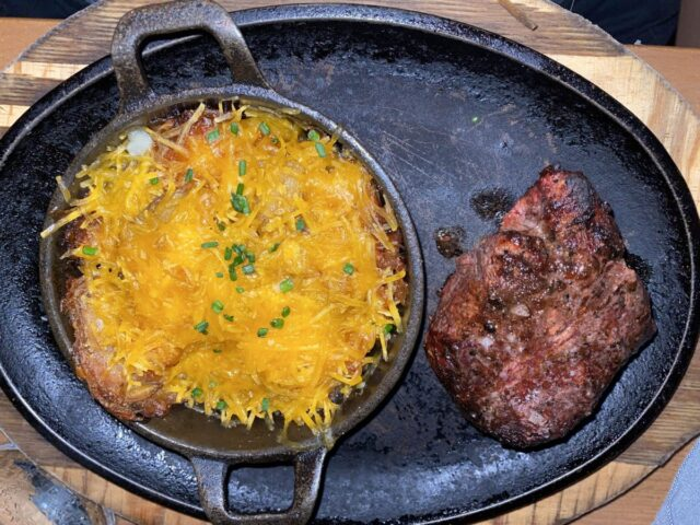 filet mignon, potatoes - Things to do at universal studios orlando for adults