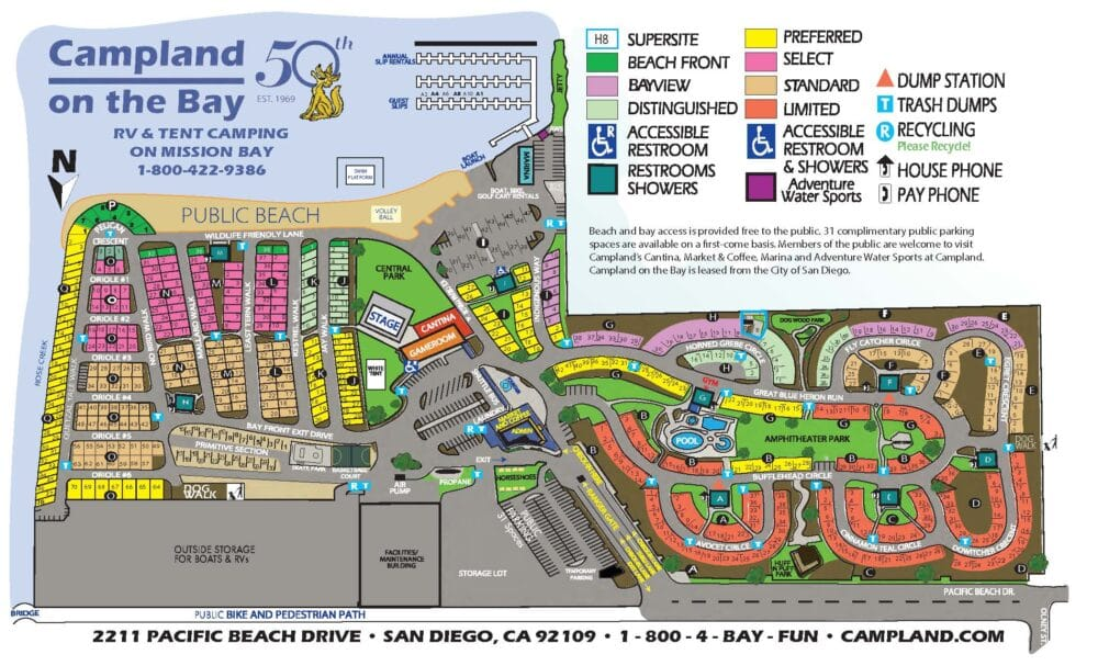campland on the bay map