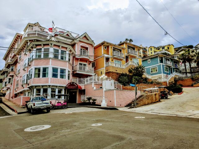 Colorful buildings on Catalina Island. 7 Best Things to do with Kids on Catalina Island