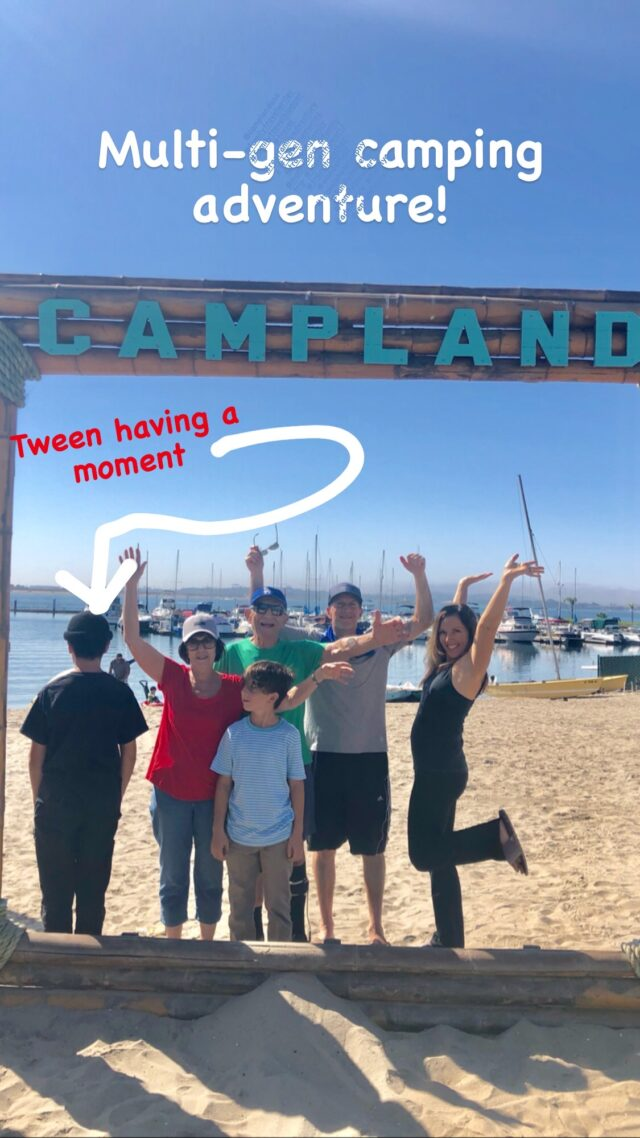 multi-gen family camping in san diego at campland on the bay