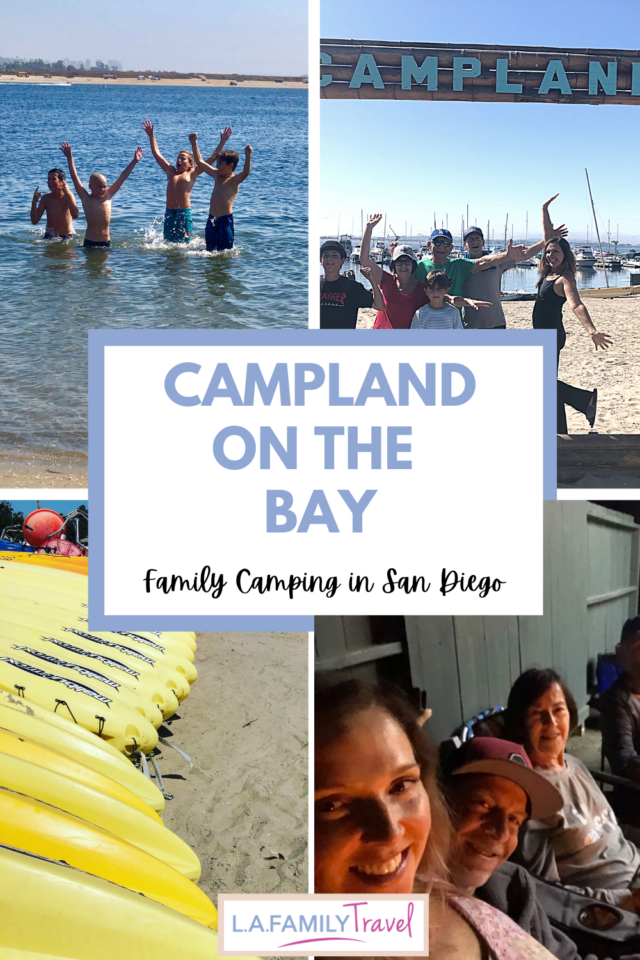 family camping in san diego with grandparents. A review of Campland on the Bay campground in Mission Beach and Bay