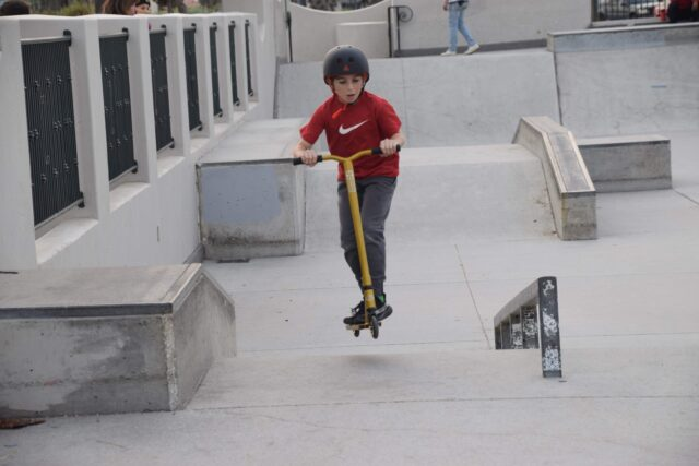 Scootering at Skate Point Skatepark - The beautiful coastal city of Santa Barbara has lots of fun adult activities but there is a lot of fun to be had in Santa Barbara with kids!