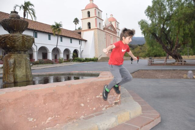 jumping off the walls at the santa barbara mission - The beautiful coastal city of Santa Barbara has lots of fun adult activities but there is a lot of fun to be had in Santa Barbara with kids!