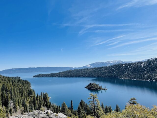 Emerald Bay State Park-- blue waters and plenty of pine trees. 7 Not To Miss Things To Do In South Lake Tahoe With Kids family travel