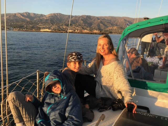 family on sailboat taking a sunset cruise - The beautiful coastal city of Santa Barbara has lots of fun adult activities but there is a lot of fun to be had in Santa Barbara with kids!