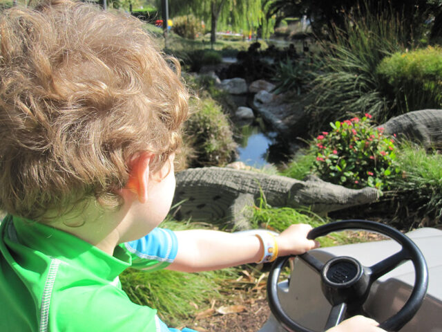driving in a car - Legoland was geared to my 5 & 3-year-olds. Here's why Legoland CA is perfect for toddlers & young kids